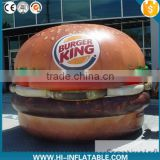 HOT sale! 2015 hot PVC inflatable hamburg,inflatable replicas food for promoting inflatable food