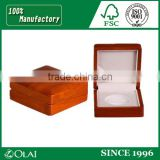 high quality wooden medal coin packaging box with EVA insert