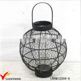 Black Antique Metal Lantern Hanging Wire Candle Holder