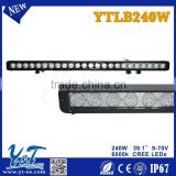 39.1 Inch 240W Led Work Light Single Row LED Light Bar Fog Light for Off road 4x4 ATV Boat Marine Use Flood Spot Combo Beam