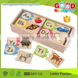 2015 New Products Top Quality Animal and Letters Matching Toy Colorful Wooden Toys Puzzle Wholesale                                                                         Quality Choice