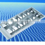 ceiling louver fitting 2X20W T8 recessed louver lighting with high quality full aluminum grill or iron grill and ballast