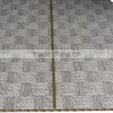 10'' width new style trinidad Plastic ceiling sheet, SMOOTH surface,brown color with gold strip F055