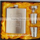 7oz Bride or Groomsman gift-Personalized hip flask set with black gift box wedding gifts for guests houseware factories