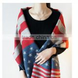 wholesale women fashion print American flag oversized winter new product pashmina shawl and scarf viscose acrylic fabric scarves                                                                                                         Supplier's Choice