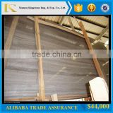 Chinese Coffee Brown Wood Vein Marble Slabs (Direct Factory +Good Price )