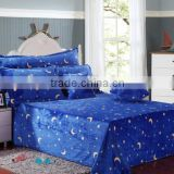 Plain printed flannel Bed three-piece suit high quality/for children