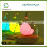 Baby sleep rechargeable bird in cage LED night light touch cage lamp toy