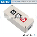 CNTD Top Quality Surface Mounting Reinforced Plastic Start Button 3A 250V Power Button Switch for Motor (CPB-3)