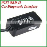 WIFI OBD2 Auto Diagnostic Cable OBDII OBD-II Code Reader WI-FI OBD AUTO CHECKER Interface