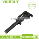 veister Mini Handheld Wired Remote Phone Selfie Stick Monopod Extendable For Android IOS