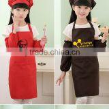 2016 hot sale waterproof apron for kids drawing advertising apron