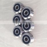 SW0 2RS 4mm bore 9Cr18Mo(440C) Stainless Steel Dual V Guide Wheel Stainless Double Row Angular Contact Ball Bearings