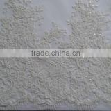 2015 Sparkling beads and sequins decoration bridal lace embroidery beads trimming wholesale