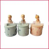 Polyresin baby crafts baby figurine decoration baby jewelry box