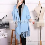 Fashion Comfortable warm real pure Cashmere Print Double sided Scarves winter shawl women lady