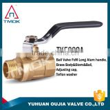 TMOK 125LB brass ball valve Female and male for water,oil and gas with carbon steel handle brass sanitary water shut-off valve