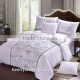 hotel bedding set statin fabric 60s cotton fabric with jacquard pattern for bed sheet mattress bed cover