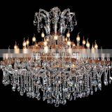 Five star hotel lobby decor wholesale chandelier crystal prisms