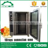 BOSSDA CE approved hot air 10trays gas convection oven with steam function