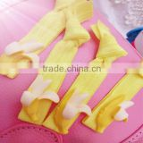Fresh banana elastic hair bands girls hair ribbon with knot headband