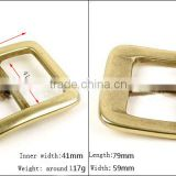 Backpack or Bag or Used leather belts used solid brass buckle 41mm Metal retangle Buckle