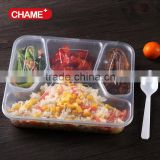 Disposable Biodegradable Tasteless No-harm Non-toxic Eco-friendly Sanitary Blister Rectangle Food packaing meal tray