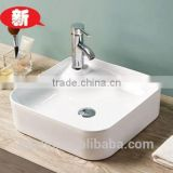 2015FOSHAN Newest super slim edge art ceramic basin lavatory bowl sink bathroom vanity counter top wash basin