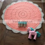 hand washable custom order colours and style crochet floor rug