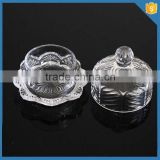 LXHY-CE0821High quality small novelty butter dish with clear crystal cover