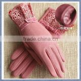 Factory Supply Smart New Cashmere Glove With Butterfly Or Bowknot