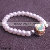 2015 New Product Snap Button Jewelry Imitation Pearl Bracelet                                                                         Quality Choice
