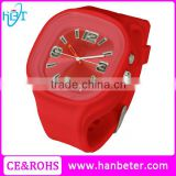 3 ATM water resist fancy watches for kids silicone japan movement quartz watch sr626sw