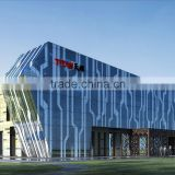 High quality facade glass, first layer ceramic digital print glass building, low iron low e laminated glass