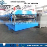 Construction Used Corrugated Roof Making Machine For Sale / Double Layer Roof Sheet Roll Forming Machinery
