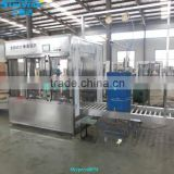 Automatic linear type oil tin packaging machine for olive cooking sunflower oil in bottle barrel or jar can