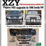 INquiry about Mitsubishi pajero V93/ V97 upgrade to 2016 pajero V98 style body kit.conversion body kit