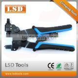 LS-DE156 RG59 RG6 cable crimping tool F/BNC/RCA sealtitle connector crimp tool 3 in 1 multi funtion compression crimp tool