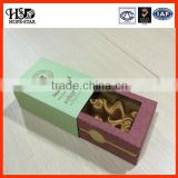 2014 new product luxury paper packaging perfume box &silk white foam cosmetics containers