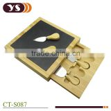 4pcs cheese knife and bamboo cheese box set