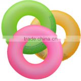 Good design led flashing inflatable swimming ring , led light swim ring