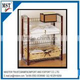 Wooden frame metal wire multilayer pallet rack display rack/atm/china suppliers/new products