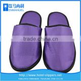 Purple satin disposable girls terry bathrobe slipper