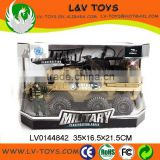 Hot-selling plastic toys 2015 friction military vehicle tank toy