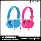 2016 new product mobile accessories earphones mp3 studio mobile phone headsets colorful wired headphones for Kids, music