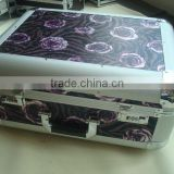 Luggage case for top of car,just case trolley makeup case with pocket,PVC aluminum beauty trolley case