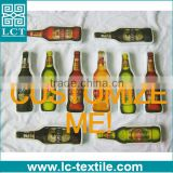customize wine beer bottle shaped 140-180gsm cotton compressed t shirt LCTY-004