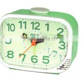 ML11002 Green decor Melody desk alarm clock with square shape