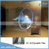 3D Holographic Projection Film for Window Shop Display White Grey deep grey transparent Natural Black