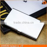 Business card use silver and golden stainless steel metal card holder with polished surface and engraving Logo
